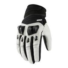 Icon Konflict Moto Motorcycle Motorbike Gloves White