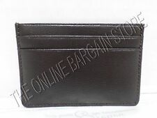 Pottery Barn Colby Leather Business Card Holder Wallet Storage Organize Espresso