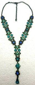 Lovely Necklace Blue Crystals Swarovski Jewelry Israel.