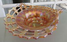 Fenton BLACKBERRY OPEN EDGE 2-SIDES UP Marigold Hat Basket
