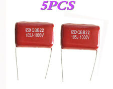 5 PCS Metallized Film Capacitor CBB22 105J 1000V 1uF 1KV P=27.5mm -UKSF