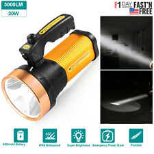 Super Bright Spotlight Handheld Portable Searchlight LED Rechargeable Flashlight