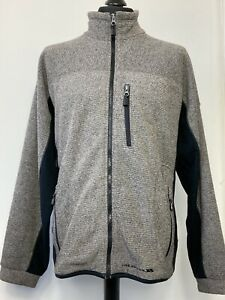 Trespass Long Sleeve Zip Up Sweatshirt Pullover Grey Hood Jumper  Mens L Large