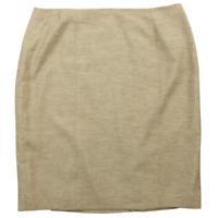 Kasper Tan Knee Length Pencil Skirt Women's Petite Size 14P