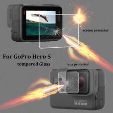 Objektiv & Displayschutzfolie für Gopro Hero 5 Schwarz Action Kamera Zubehör