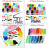 375/150 Sets DIY Craft T5 Snap Buttons Starter Plastic Poppers Fasteners  !