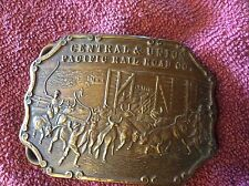 Union Pacific Railroad Brass Belt Buckle RR Company Tiffany Studio early Version