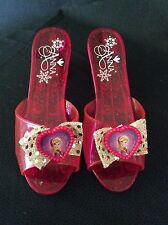 Disney Frozen Princess Anna Red Slippers W/Picture 7 1/2""