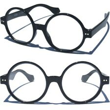 Round Clear Lens Glasses Black Frame Retro Vintage Inspired Eyewear Eyeglasses