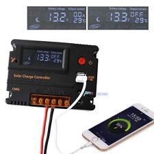 20A 12V 24V LCD Solar Panel Battery Regulator Charge Controller & DC USB Port DH