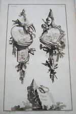 EAU FORTE JEAN CHARLES DELAFOSSE-VOYSARD ORGUEIL TYRANNIE-TROPHEES 1772