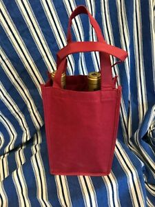 Ariel Non Woven Polypropylene Lot Of 8- 2 Bottle Wine Tote/ W/Handles FREE SHIP
