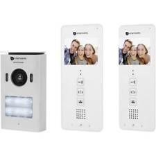 Smartwares DIC-22122 Video-Türsprechanlage 2-Draht Komplett-Set 2 Familienhaus W