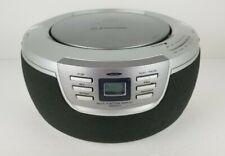 Emerson Radio Boombox Stereo AM FM Radio CD player PD5201 Digital Silver + Cord