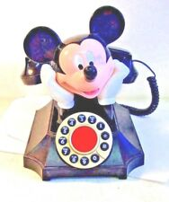 Vintage Disney MICKEY MOUSE TELEMANIA Desk Telephone working condition