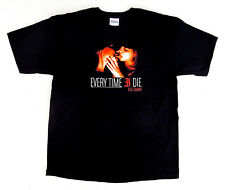 EVERY TIME I DIE T-shirt HOT DAMN! Metalcore Rock Band Tee Adult LARGE Black
