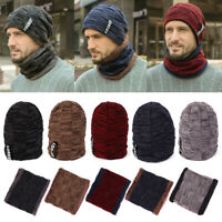 de laine épaisse Chapeau de haricot Bonnet tricot Hiver chaud écharpe