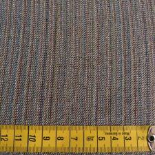sommerl. leichter Wollstoff, feine Streifen, Graubraun-Töne m. terracotta100% SW