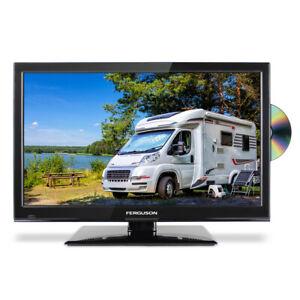 """Ferguson 22"""" HD LED 12v Volt TV Freeview & DVD for Caravan Motorhome Truck HGV"""