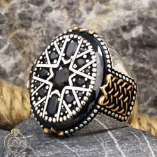 Black Multi Stone Mens Wedding Ring Art Deco Engagement Band Best Groom Ring