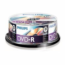 250 X Philips Dvd-r 120 Mins 4.7gb 16x Speed Recordable Discs 10packs
