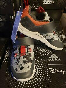 adidas RapidaFlex Mickey EL I Disney Grey Red White TD EF9730 Size 6K