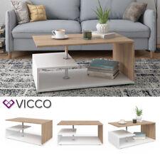 VICCO Couchtisch GUILLERMO in Weiß Sonoma Eiche Wohnzimmer Sofatisch Kaffeetisch