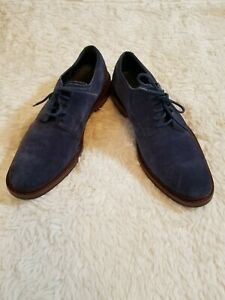 Men Cole Haan Blue Suede Oxfords Shoes Size 9.5