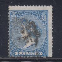ESPAÑA (1866) USADO SPAIN - EDIFIL 81 (2 cu) ISABEL II - LOTE 3