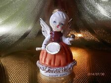 RARE VTG Japan Tennis Girl August Birthday Angel Figurine ADORABLE!