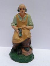 PRESEPIO PRESEPE vecchia statuina Confalonieri calzolaio cobbler