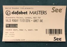 Masters Snooker (Jan 2016) Used Ticket