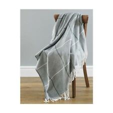 Country Club Mirano gris acrylique Throw 130 cm x 170 cm Canapé Lit Couverture Nouveau