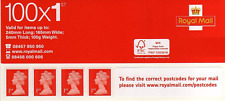 Royal Mail Post Office 1st Class Standard Self Adhesive 100 Stamps Book