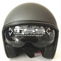 DOT Motorcycle Helmet Open Face Scooter Half 3/4 Helmet Integrated Sun Visor