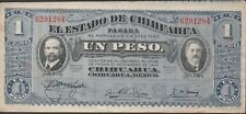 México / Chihuahua  1  Peso   11.O.1915   Series L  ERROR  Circulated Banknote