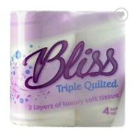 Bliss 3ply Luxury Triple Quilted Soft Toilet Tissue 80 Rolls 20m Per Roll