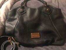 Marc Jacobs Classic Q Fran Black Leather Tote Large Shoulder Bag NWOT