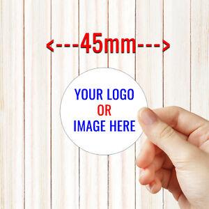 Personalised Round Business Sticker Labels MEDIUM SIZE - Custom Logo 45MM