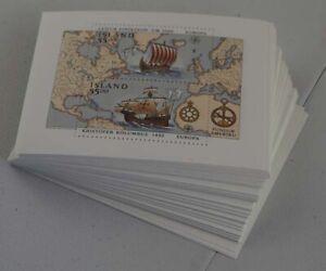 1992 Island; 100 Blocks Europa, postfrisch/ MNH, Bl 13, ME 1000,-