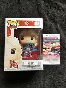 WWE NATURE BOY RIC FLAIR SIGNED FUNKO POP FIGURE w/ JSA COA NWA WCW WWF Wooo TNA