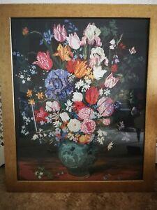 Floral Framed Tapestry Picture
