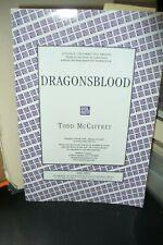 SIGNED TODD McCAFFREY DRAGONSBLOOD PROOF COPY 2005 US