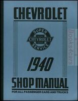 CHEVROLET 1940 SHOP MANUAL SERVICE REPAIR BOOK RESTORATION TRUCK