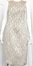 Tracy Reese Golden Gold Brocade Sheath Dress Size 6 EUC