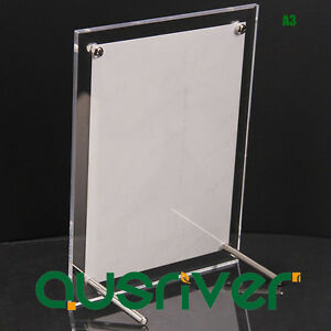 A3 Acrylic Clear Photo Frame Poster Picture Holder Display Decor New Year Gift