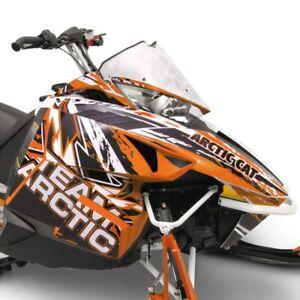 Arctic Cat Orange Scatter Hood & Side Panel Decal Wrap - 2012-2018 ZR F XF M