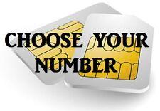 GOLD VIP BUSINESS EASY MOBILE PHONE NUMBER DIAMOND PLATINUM SIM CARD