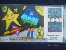 Stampin The Future 33c Stamps FDC Handpainted Collins#X3202 Sc#3414-15