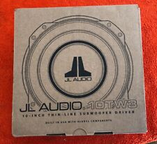 "JL AUDIO 10TW3-D4 DUAL 4 OHM 10"" SHALLOW SLIM MOUNT THIN SUBWOOFER SPEAKER NEW"